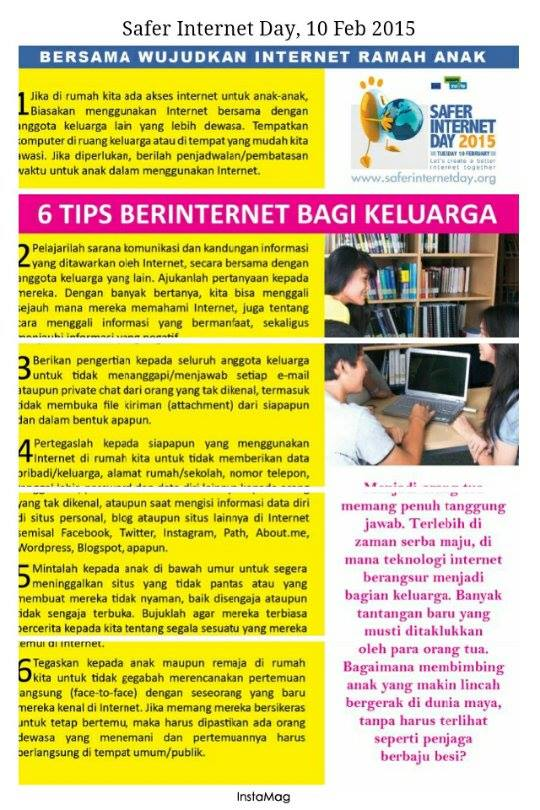 Tips Berinternet bagi keluarga |Safer Internet Day | SID2015 | Relawan TIK | Bersama Wujudkan Internet Ramah Anak | nchie hanie | Emak2 Bogger