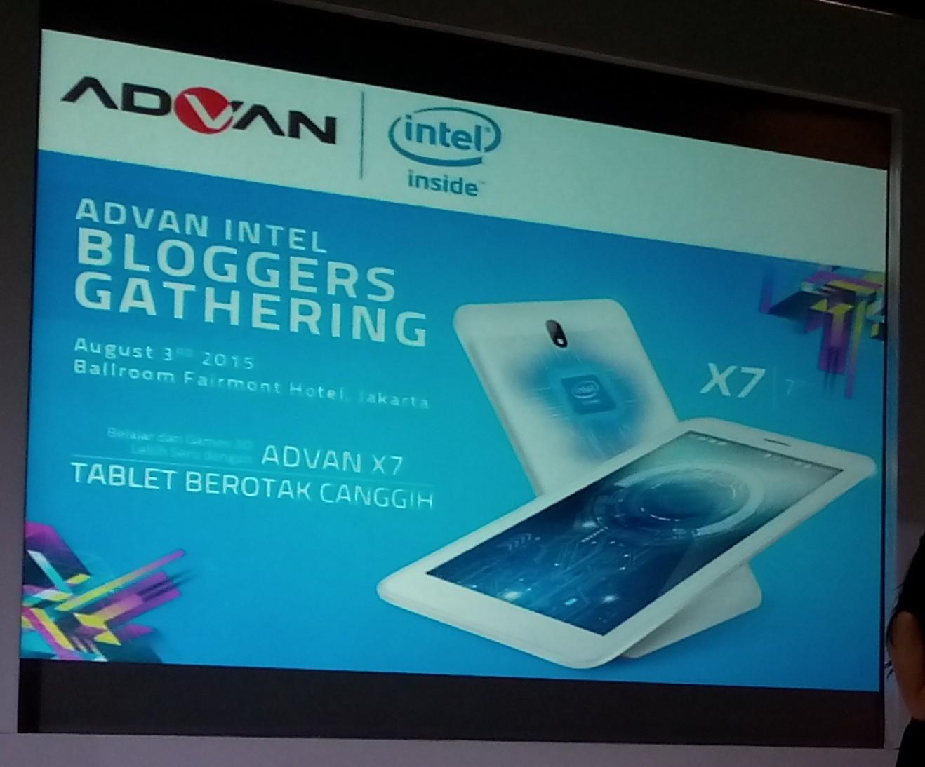 Advan Vandroid X7 Tablet PC Berotak Komputer