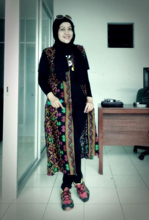 nchie hanie|baju muslim |baju batik| blogger bdg