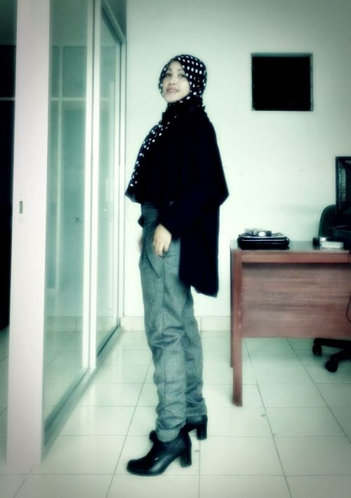 nchie hanie|baju muslim |baju casual| blogger bdg