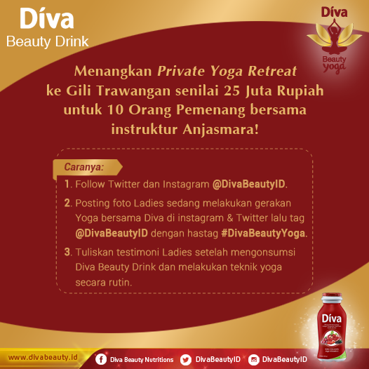 Diva Beauty Yoga | Diva Beauty Drink | Diva Beauty Bandung | Blogger BDG | Nchiehanie