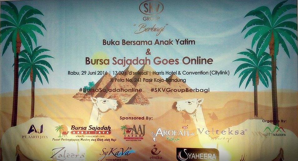 Bursa sajadah | bursa sajadah online | oleh-oleh haji | SKV Group Berbagi | Blogger BDG | Heera CEO Bursa Sajadah