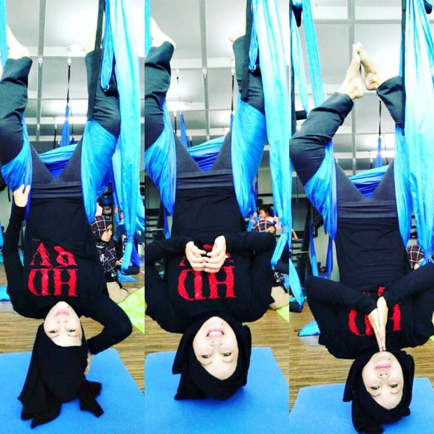 tempat yoga di bandung| sitara studio |holis regency c.15 |aerial yoga | blogger bandung