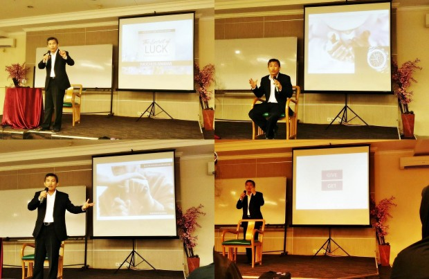 muchlis anwar |the secret of luck |seminar rahasia keberuntungan | blogger bdg