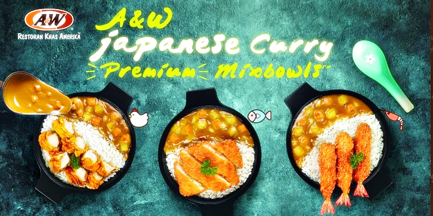 Japanese Curry Premium Mixbowls  A&W Restoran   3 pilihan (ayam, udang,ikan)   RB   Delivery 14061  awdelivery.co.id