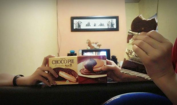 premium bonding moment bareng lotte choco pie