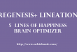Brain Gym | Brain Optimizer | 5 Lines of Happiness | regenesis+ | Lineation Centre | Nchie Hanie