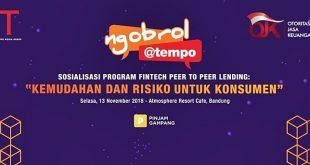 Pahami Fintech | Peer to Peer Lending | Ngobrol Tempo| nchie Hanie | Blogger Bandung