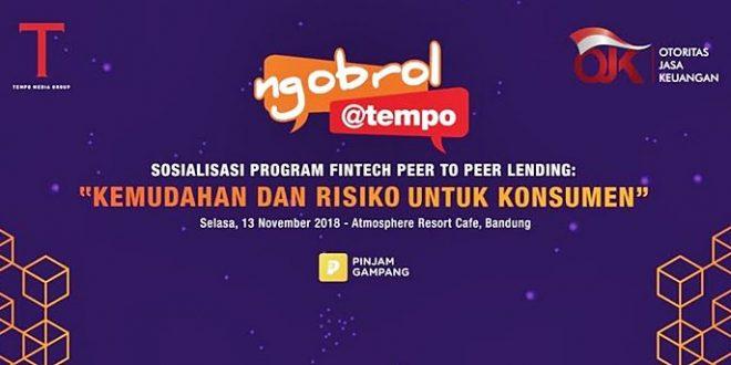 Pahami Fintech   Peer to Peer Lending   Ngobrol Tempo  nchie Hanie   Blogger Bandung