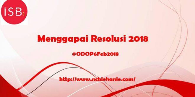ODOPFEB18 | Indonesian Social Blogpreneur | Nchie Hanie | Resolusi 2018