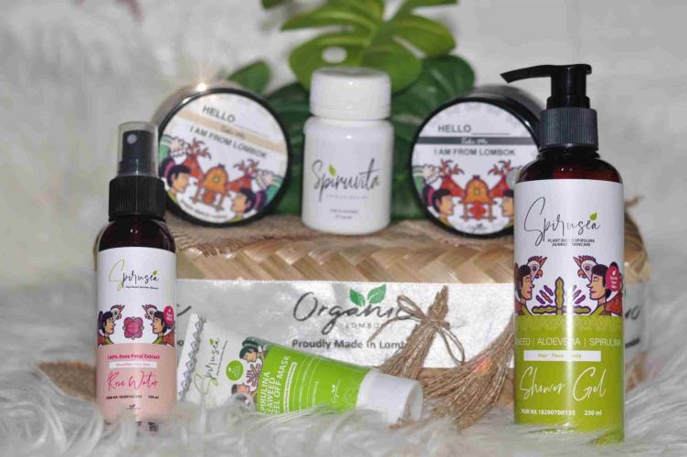 Organic Lombok, Spirusea, Spirulina, Seaweed, Eco Green, Skincare alami anti jerawat | nchie hanie